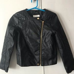 H&M Faux Leather Bomber